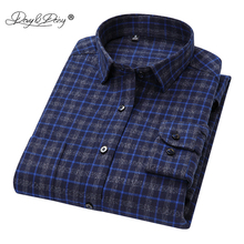 DAVYDAISY 2018 New Arrival Autumn Winter High Quality Men Shirts Long Sleeve 100% Cotton Classical Man Plaid Causal Shirt DS265