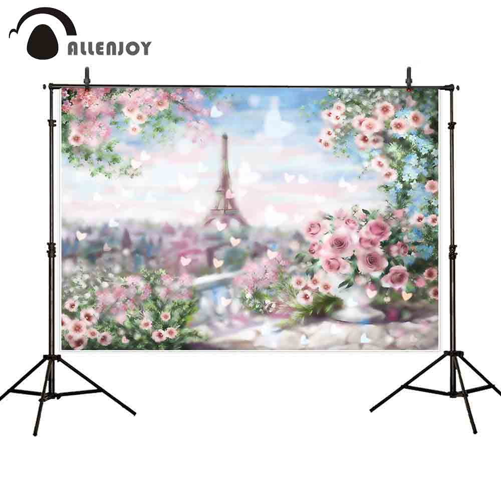 Bokeh Flowers Wedding: Allenjoy Wedding Backdrop Photocall Bokeh Romantic Paris