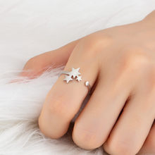 2018 New Fashion Three Star Knuckle Rings For Women Vintage Geometric Golden Silver Rings Set Party Bohemian Ring Jewelry Gifts(China)