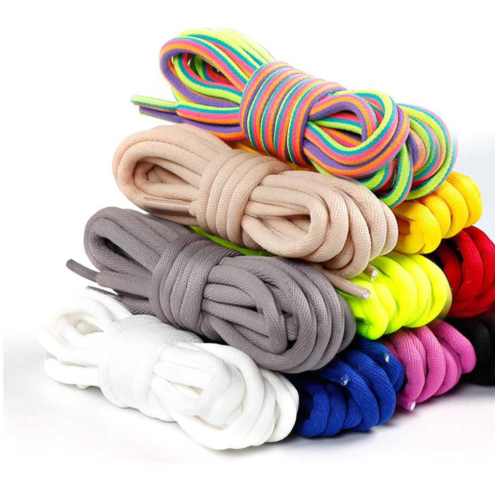 1Pair Classic Casual Multi-Color Round Twisted Long Shoelace For Sneakers Unisex Durable Sports Boots Shoe Laces String 120cm