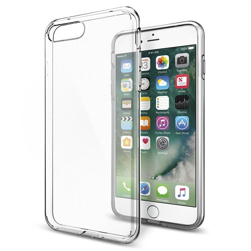 Étui pour iPhone 8 8plus 7 8 6 6S Transparent Ultra mince en Silicone Transparent pour iPhone X XS MAX XR 5 5s SE