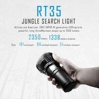 SUNSAVER 1 шт. IMALENT RT35 CREE XHP35 интеллектуальная джунгли поиск свет максимальная Выход 2350 люмен далеко 1338 м