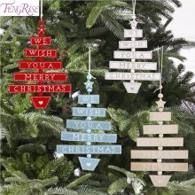 fengrise wooden christmas decorations 2018 christmas wooden ornament merry christmas decor for home outdoor xmas tree decoration
