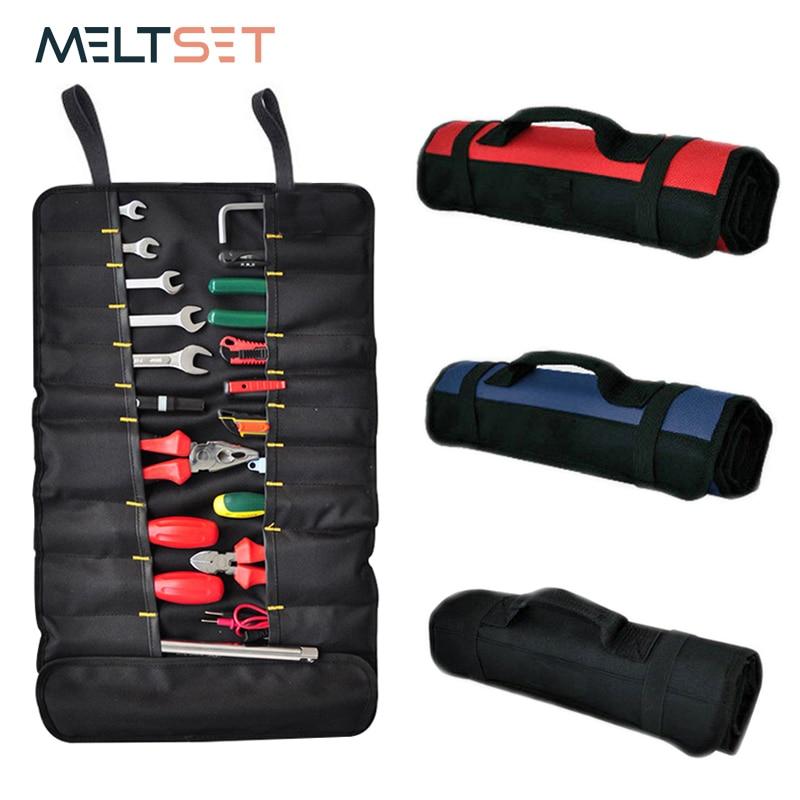 Tools Pouch Bag Roll Up Pocket Wrench Ratchet Socket Holder Carrying Storage Bag