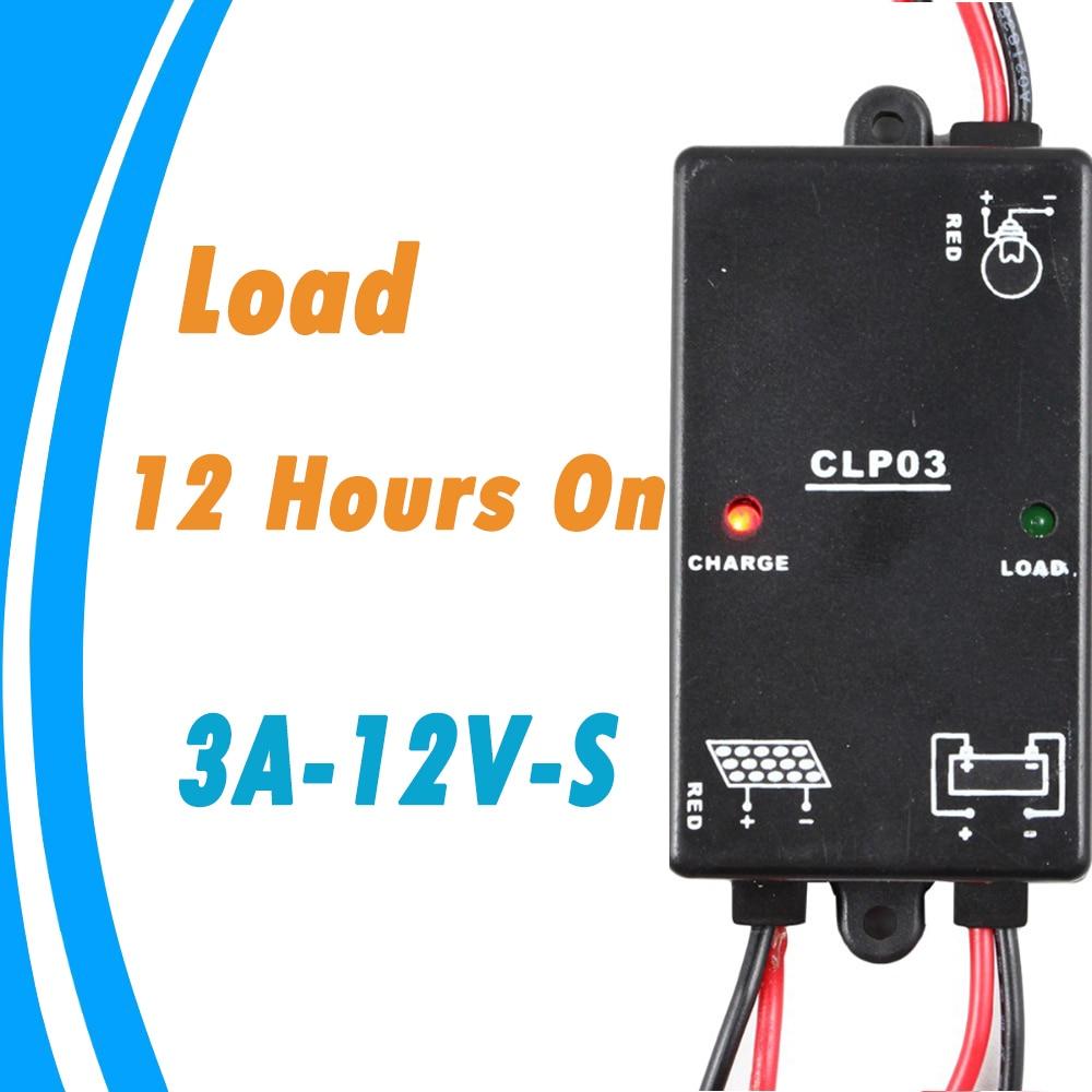 Solar Controller 3a 12v Solar Panel Lighting Timer Load On