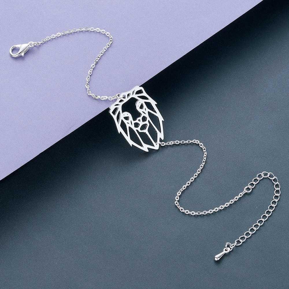 Todorova Link Chain Cute Origami Lion Bracelets for Women Men Fashion Animal Zodiac Bracelet Bangles Stainless Steel Jewelry