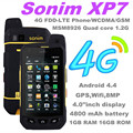 100% Original Sonim XP7 FDD-LET 4 G WCDMA 3 G GSM 2 G xp7700 IP68 a prueba de agua teléfono 4800 de la batería cámara de 8MP Runbo teléfono catb15q s50