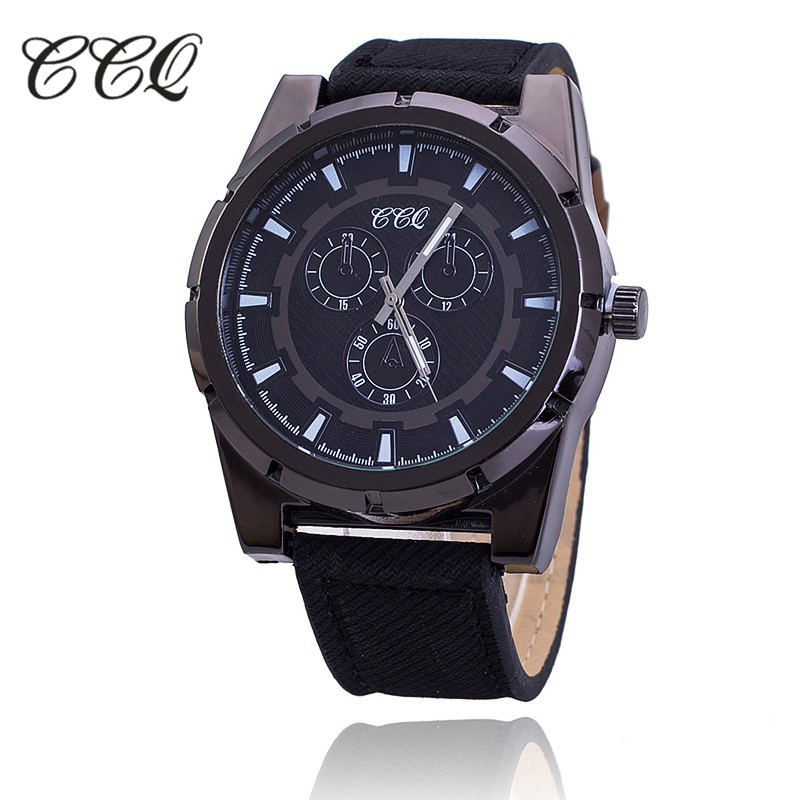 CCQ Luxury Brand Leather Strap Watch Men Sports Wristwatch Fashion Military Quartz Watch Male Clock Hours Relogio Masculino 1640 binger nylon strap watch hot sale men watch unisex hour sports military quartz wristwatch de marca fashion female male relojes