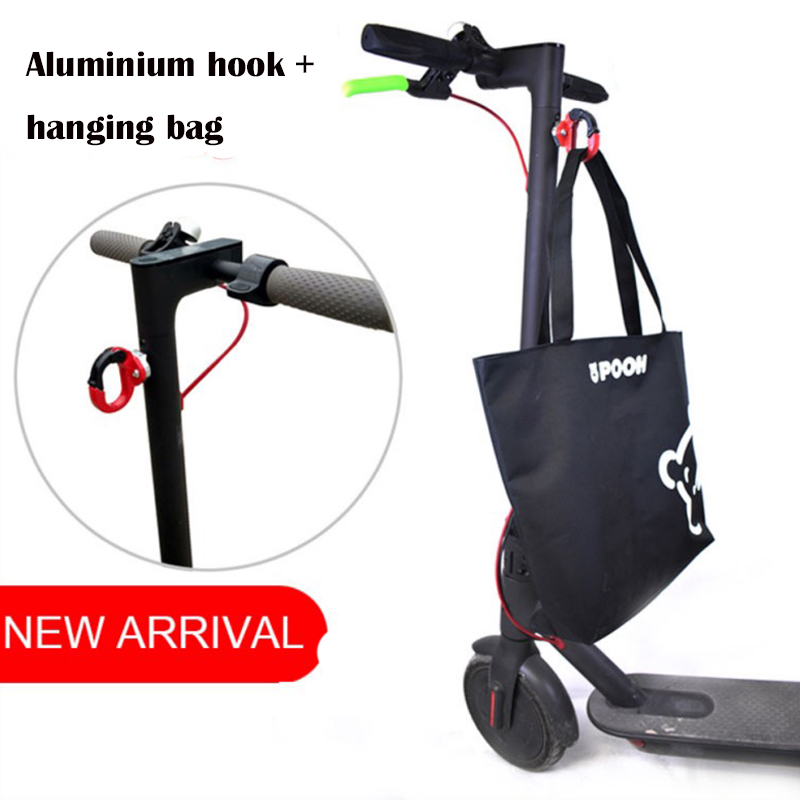 Home Xiaomi Mijia M365 M365 Pro Electric Scooter Front Hook Hanger Helmet Bags Claw Skateboard Kid Scooter Grip Handle Bag Part New