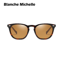 Blanche Michelle Square Frame Sunglasses Women Polarized UV400 Female Sun Glasses For Driving Lady Mirror okulary With Box