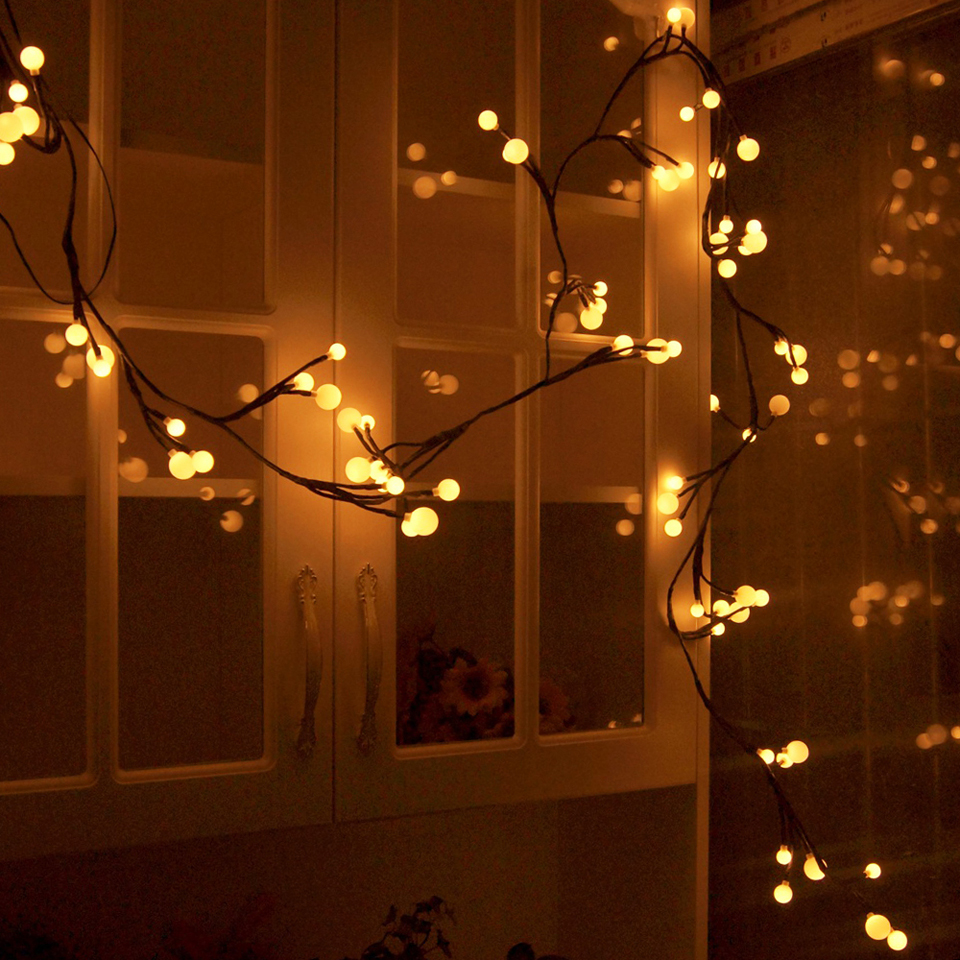 2.5m 72 LED String Fairy Lights Bendable Warm Globe Lamp with 8 Modes Memory Waterproof Christmas Wedding LED Lights Decoration