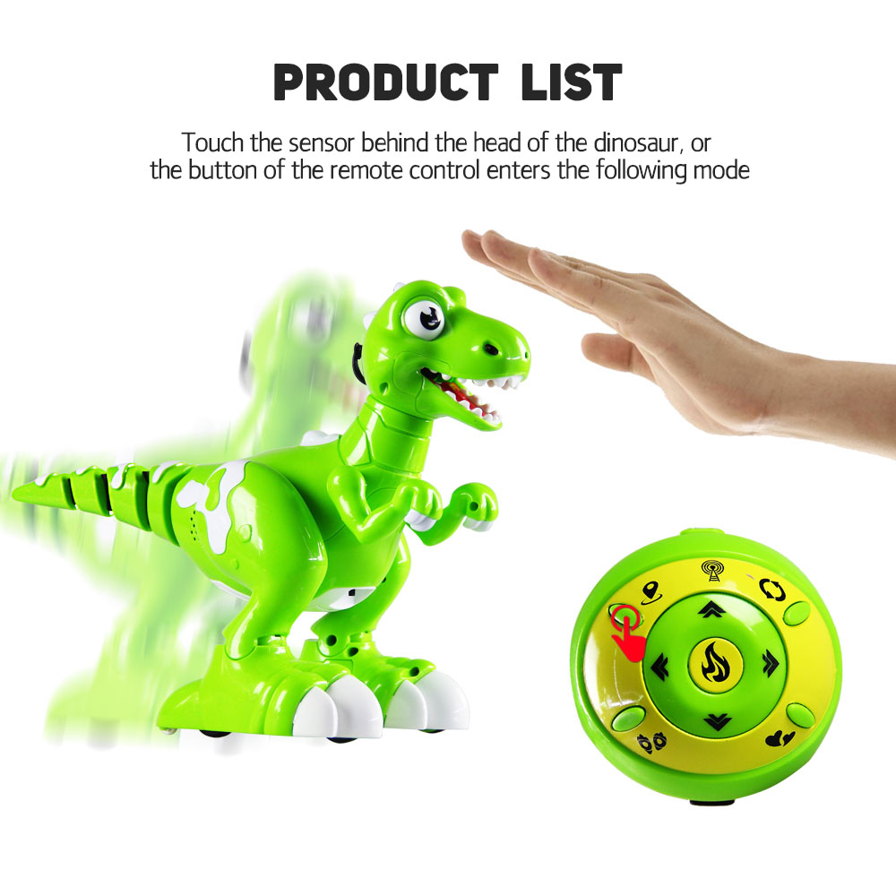 RC Smart Electric toy Dinosaur Robot interactive toys Remote control Dinosaur controlled dinosauro toys Gift untamed raptor by fingerlings interactive collectible dinosaur for children gift toys