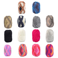 Brand High Quality 5Pcs/Pack Soft Smooth Natural Bamboo Milk Cotton Hand Knitting Yarn Baby Cotton Yarn Knitted 14 Colors