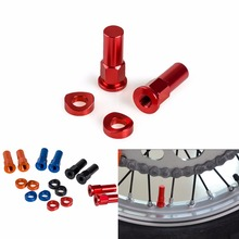 New Motocross Dirt Bike Blue CNC Rim Lock Nut Spacer Kit For Yamaha Husqvarna CR YZ KX RM CRF YZF KXF RMZ 85 125 250 450