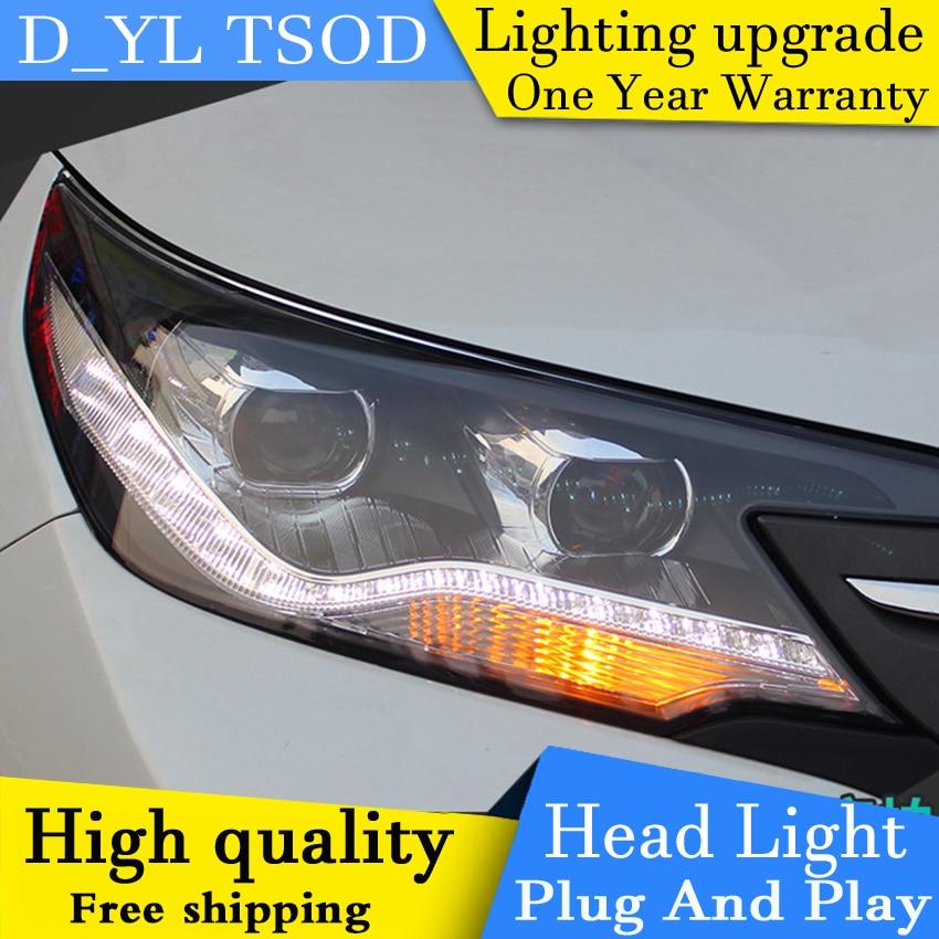 Car Styling Headlights For Honda crv 2013 2015 LED Headlight for CRV Head Lamp LED Daytime