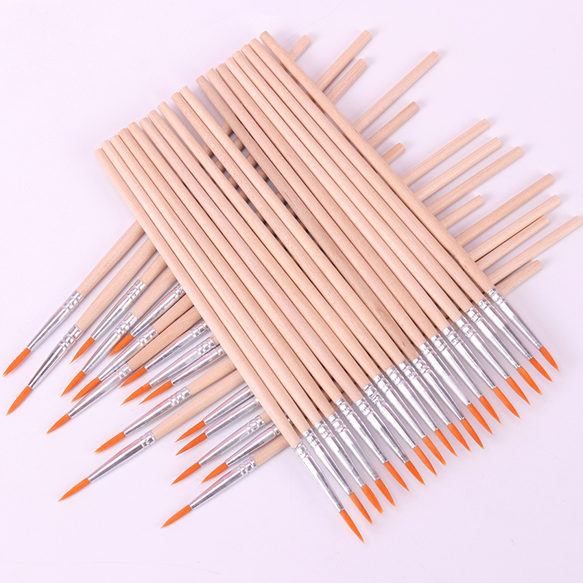 10PCS Fine Hand Painted Thin Hook Line Pen Art Supplies Drawing Art Pen Paint Brush Nylon Brush Watercolor Painting Pen
