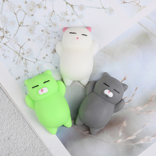 Kawaii Soft Jumbo Squishy Cute Cartoon Cat Soft Slow Rising Jumbo Squeeze Antistress Cell Phone Strap Pendant Decompression Toy
