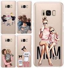 Модные чёрный; коричневый волос для мам и детей, девочек queen 01 чехол для samsung Galaxy A3 A5 A7 J3 J5 J7 силиконовая Женская чехол для телефона