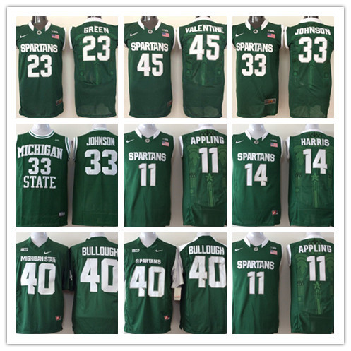 8562009e6 ... 2016 new arrival michigan state spartans magic johnson 332345 college basketball  authentic jersey ap