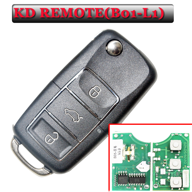 Free shipping (5 piece)Keydiy B01L-01 Luxury 3 Button Remote Key with Black colour for URG200/KD900/KD200 machine