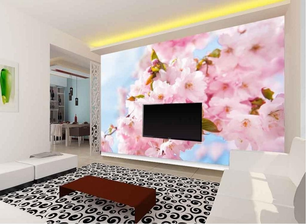 classic wallpaper for walls Fantasy Fashion Flowers 3d murals ...