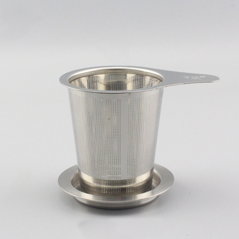 thickening stainless steel tea strainer Filter bucket Tea set accessory