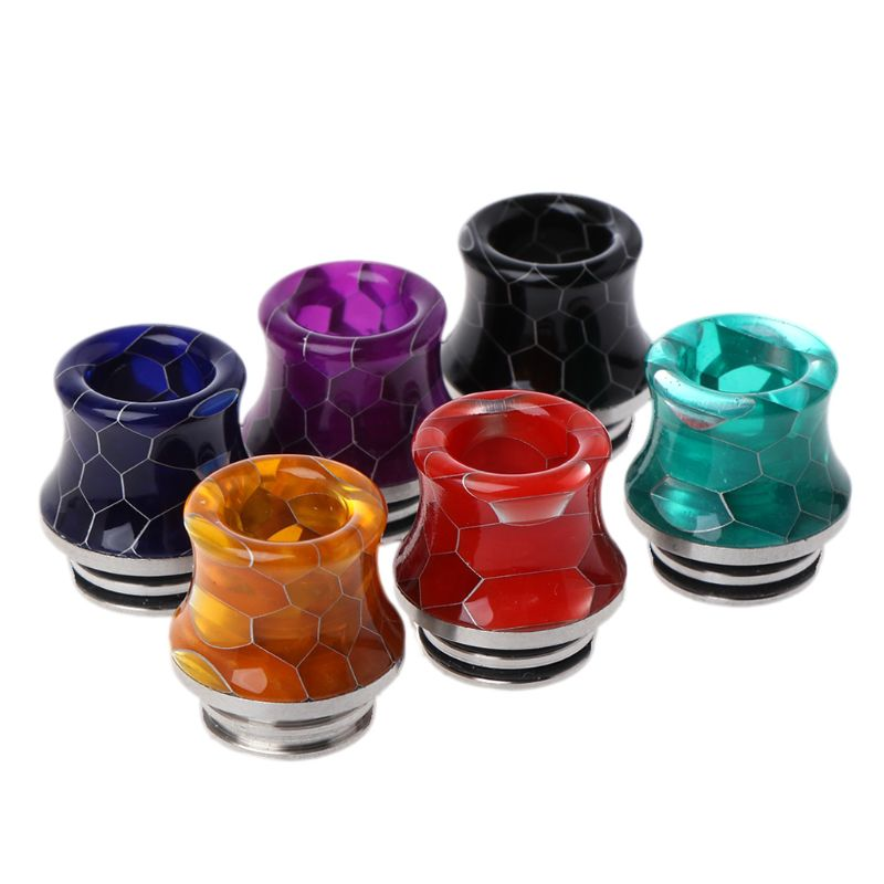 810 Stainless Steel Resin Wire Bore Drip Tip Drip Nozzle Mouthpiece For TFV12 Prince Atomizer Vape Tank Electronic Cigarette Ac