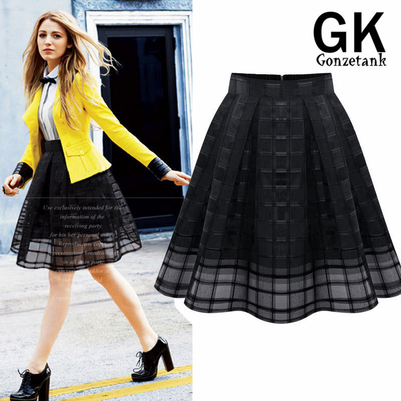 Aliexpress.com : Buy Europe 2017 Summer New Chiffon Organza Skirts ...