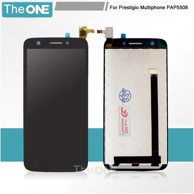 Black For Prestigio MultiPhone 5508 Duo LCD Display Touch Screen digitizer For Prestigio PAP5508 Duo pap