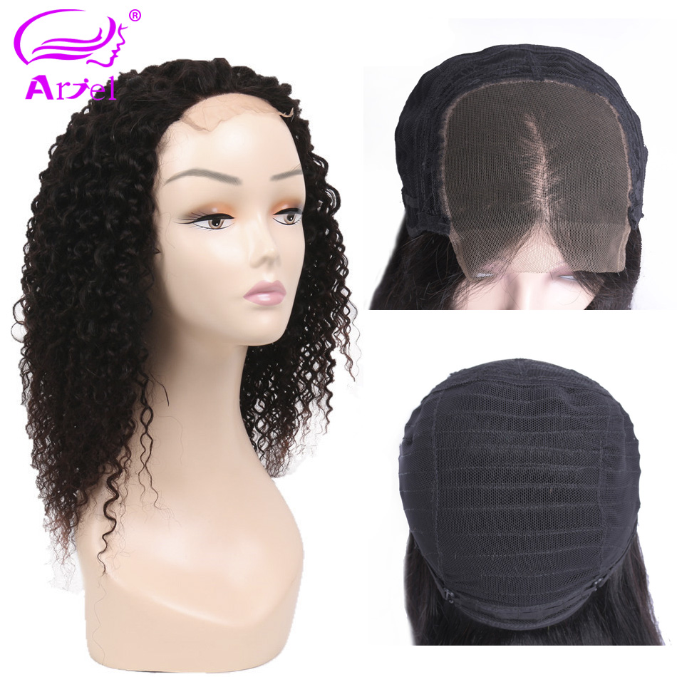 ARIEL Indian Deep Kinky Curly Lace Front Human Hair Wigs 130 Density Brazilian Remy Human Hair