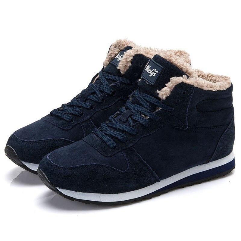 LAKESHI 2018New las mujeres botas de invierno botas de nieve tobillo Casual botas de invierno cálido zapatos de nieve zapatos de las mujeres Plus tamaño 35 46