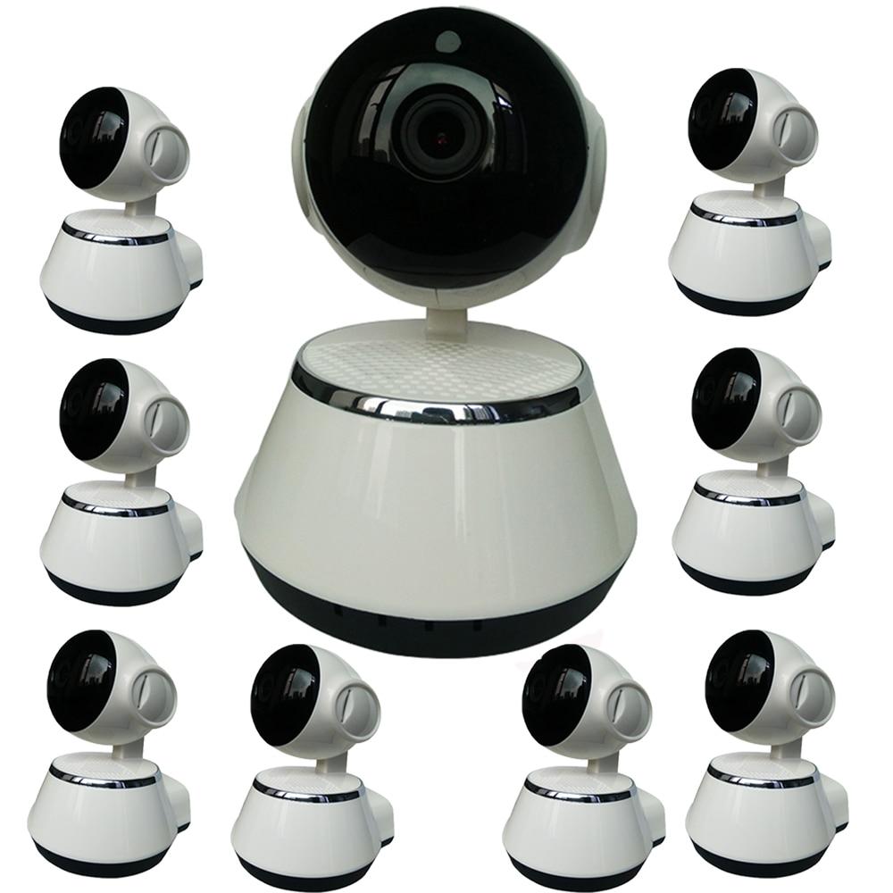 9pcs Wi-fi Wireless Surveillance Camera IP Camera Wifi P2P CCTV Camaras 720P Free APP V380 Home Security Cam Baby Monitor