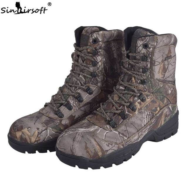 SINAIRSOFT Tactical Military Men's Boots Army Combat Winter Waterproof breathable Sports Hiking Hunting Fishing ankle Shoes