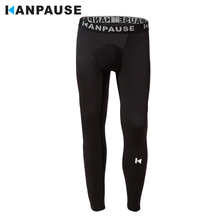 New Arrival  KANPAUSE Mens Tights Pants Running Training Fitness Sportswear