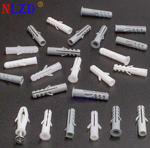 Plastic expansion pipe M5 M6 M7 M8 rubber plug plastic pipe nylon column expansion screw anchor plug wall plugs