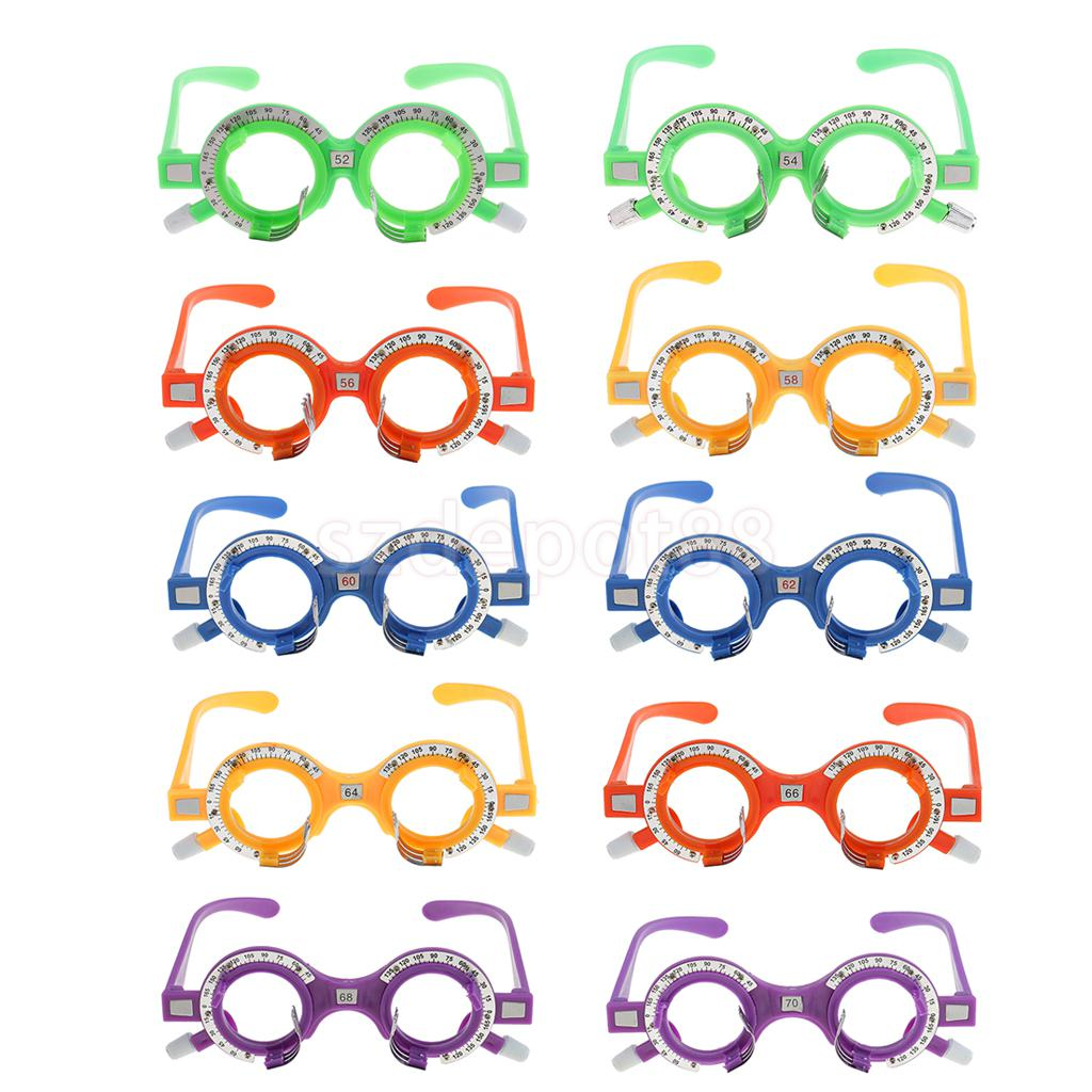 Pack Of 10 Pieces Optical Trial Lens Frame Eyeglass Optometry Optician Equipment New 52mm-70mm
