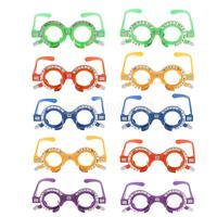 Pack of 10 Pieces Optical Trial Lens Frame Eyeglass Optometry Optician Equipment New 52mm 70mm