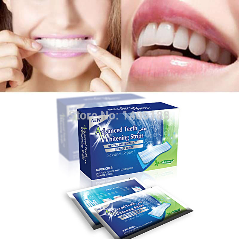 14 Pouches Pack Advanced Teeth Whitening Strips Professional Oral