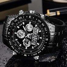 Binzi relógio masculino, relógio de pulso esportivo impermeável para homens, relógios de pulso masculino hora de hora