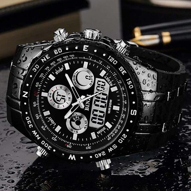 BINZI Men's Watch reloj hombre Sport Waterproof Watches for Men Wrist Watches Cl