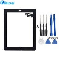 Netcosy עבור ipad 2 Tablet לוח מגע עבור ipad 2 A1395 A1396 A1397 מסך מגע החלפת digitizer לוח עבור ipad2 & כלים