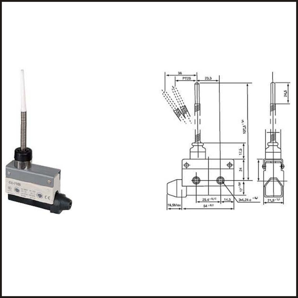 Switch travel limit switch 15A Electrical Safety Key