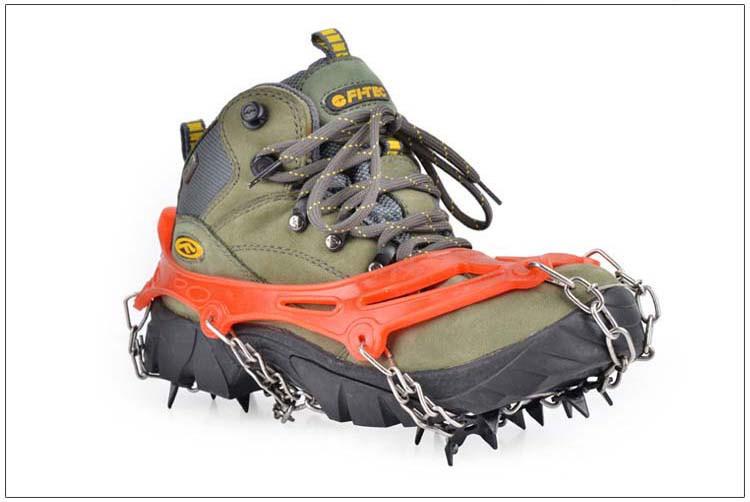 19 Zähne Spikes Steigeisen Outdoor Antislip Wandern Eis Schneeschuh Bergsteigen