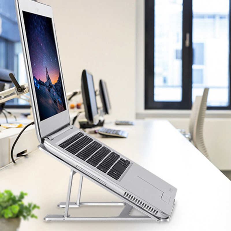 Adjustable Ventilated Laptop Stand for Desktop Portable Ergonomic Stand Compact Pole for Mac Macbook Pro Air and All Apple in Tablet Stands from Computer Office
