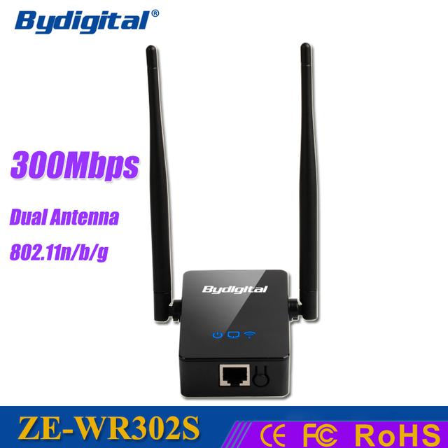 300 Mbps Wireless-n WI-FI Repetidor 2.4 GHz Dual Antena Amplificador de Señal Inalámbrica wi fi Router 802.11n/b/g extensor red mini Roteador