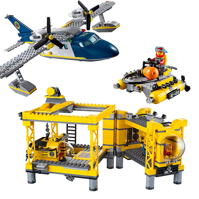Lepin 02088 Genuine 1016Pcs City Series The Deep Sea Opearation Base Set Building Blocks Bricks Gift 60096 Doinbby Toys model building blocks toys 02088 deep sea opearation base compatible with lego city series 60096 educational diy toys