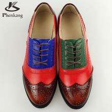 Echtes Leder Große schuhe Us-größe 11 Designer Vintage Flache Schuhe runde Kappe Handgemachte Weiße 2017 sping Oxford Schuhe Für Frauen Fell