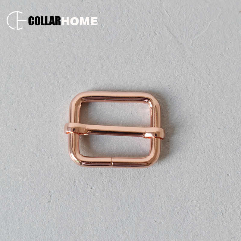 Placcato nichel cintura fibbie sliders per 1 inch (25mm) FAI DA TE accessori collare dell'animale domestico del cane heavy duty fili di metallo di spessore regolatori