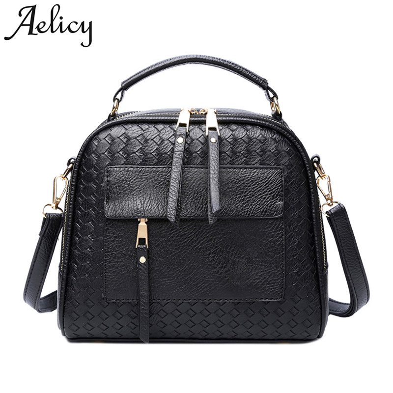 Aelicy 2017 New Knitting Women Handbag Fashion Weave Shoulder Bags Small Casual Female Cross Body Bag Retro Totes bolsos mujer животные и растения