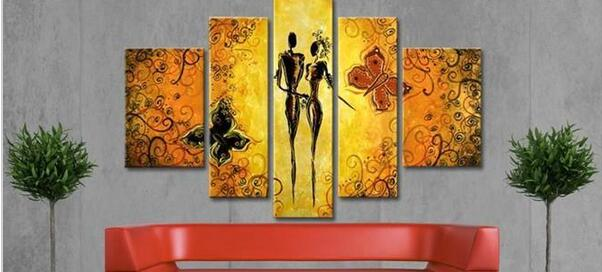 Oversize Modern Oil Painting Wall Art Our Romance Asian Canvas ...